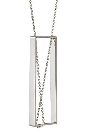 Wright Angle Necklace in Sterling Silver