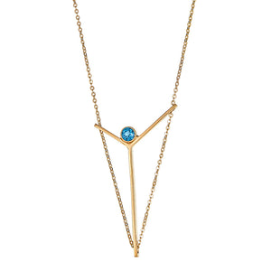 Victoria Blue Tourmaline Necklace