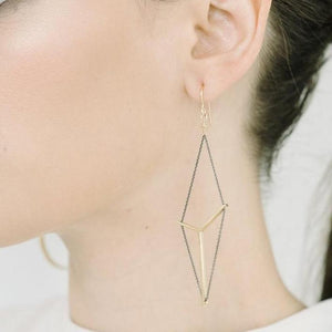 Victoria Earrings in Silver and Gold