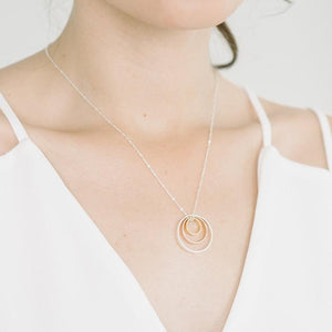 Delano Necklace in Silver, Rose, and Gold