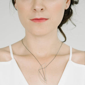 Eames Necklace in Sterling Silver and Oxidized Silver Chain
