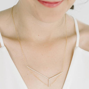 Axis Necklace in Silver and Gold