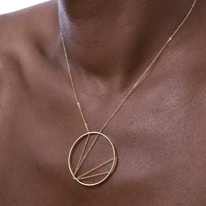 Arc Necklace in Sterling Silver