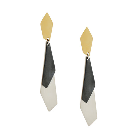Triple Apex Earrings