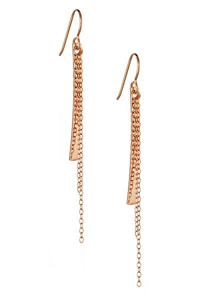 Cascade Earrings in Rose Gold