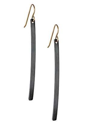 Graphite Bar Earrings
