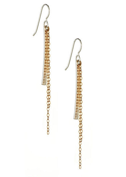 Cascade Earrings in Sterling Silver and Gold