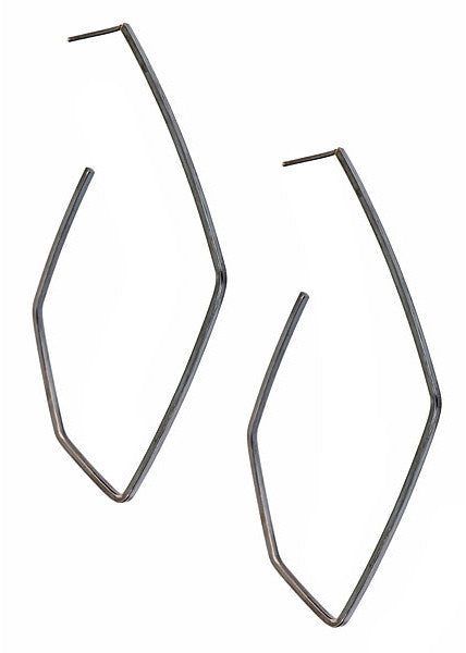 FORME Hoops in Oxidized Silver