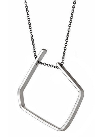 Eero Necklace in Sterling Silver and Oxidized Silver Chain