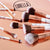Deluxe 10 Piece Marble Brush Set - Lurella Cosmetics