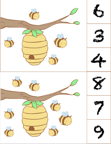 Bee Number Sheets