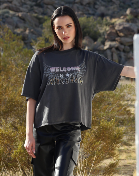 'Welcome To The Babes Club' Vintage Boxy Tee | 1981 Collection