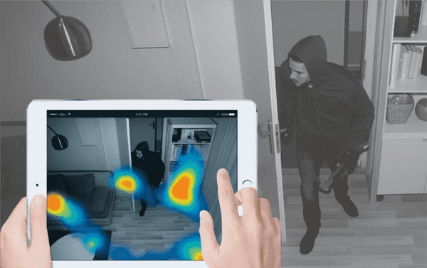 Amaryllo Ares is a security camera with face recognition. Over time, it will build a heat map of the most frequented areas on your property. This allows you to detect vulnerabilities in your home security