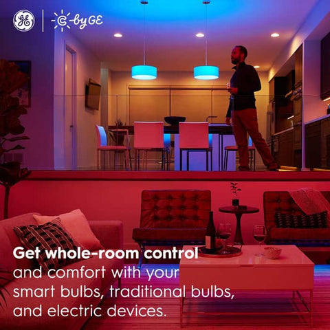 C by GE On/Off Smart Plug, Smart Plug, Smart Home, General Electric Smart Home, Voice Control, Control your Home, App control, Amazon Alexa Compatible