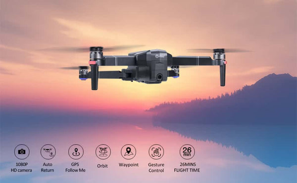 Contixo F24-Pro Drone is a drone that lets you record HD images. The F24 version has a 1080P camera and the F24-Pro version has a 4K Ultra HD Camera.