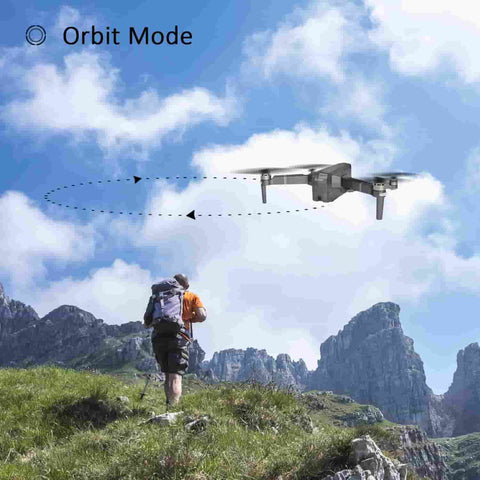 The Contixo F24 Drone has many features, such as orbit mode, follow me, auto-return and more.