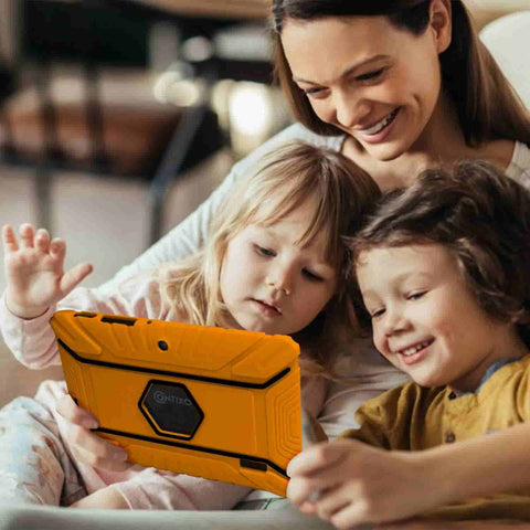 Contixo V8-2 Kids Tablet is a tablet for kids. It's a tablet that teaches kids the basics of math, reading, writing, coding and more. Contixo V8-2 is a durable tablet that withstands shocks.