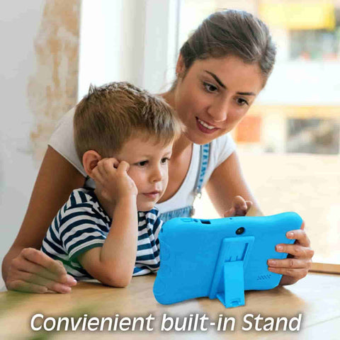 Contixo V9-3 7 Kids Tablet has parental control features. It lets you set screen time, set safe websites and more.