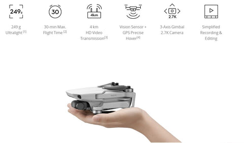 DJI Mavic Mini Main Features - Wellbots