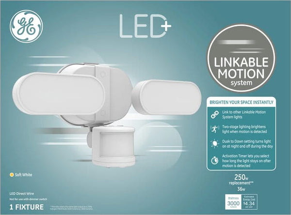 GE LED+ Linkable Motion Coach Light Replacement LED Soft White