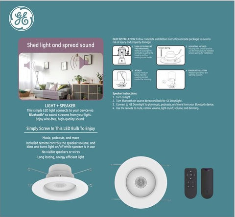 GE LED+ Smart Speaker Light Bulb