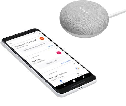 Google Home Mini (Gen 1) Smart Speaker