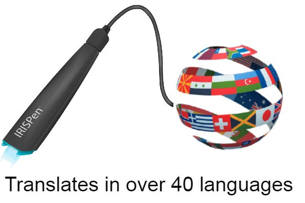IRISPen Scanner Pen translate text in over 40 different languages