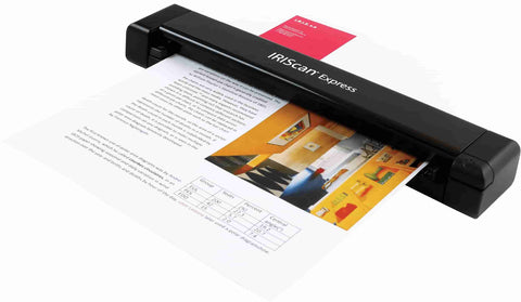 Scan any type of document in a matter of seconds with Iriscan Express 4. The portable scanner is lightweight and compact so that you can carry it wherever you go. To scan a page simply slide it into the scanner.