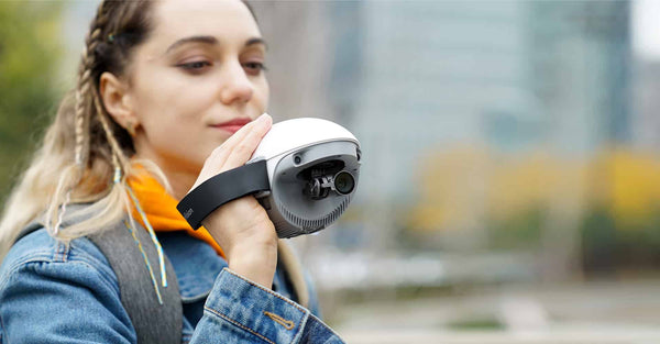 PowerEgg X Drone is also a hand-held camera with 3-axis Gimbal