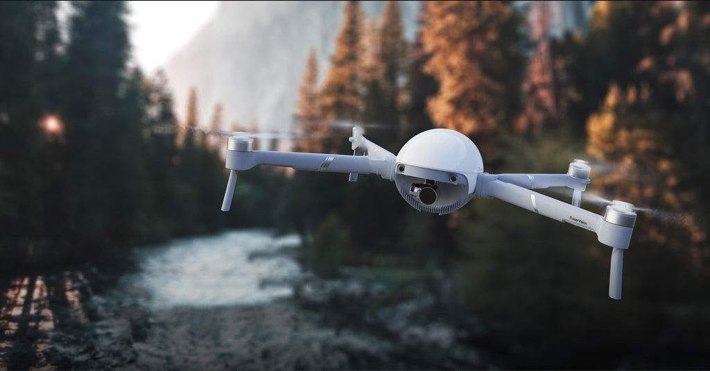PowerEgg X Camera Drone can transmit images from up to 3.7 miles