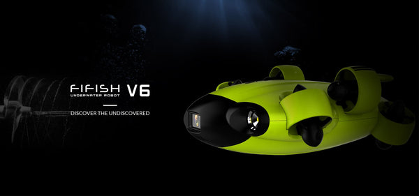 QYSEA FIFISH V6 Underwater Drone lets you record 4K HD videos of your underwater exploration. You can use the underwater drone for marine exploration, marine inspection, underwater photography and more.