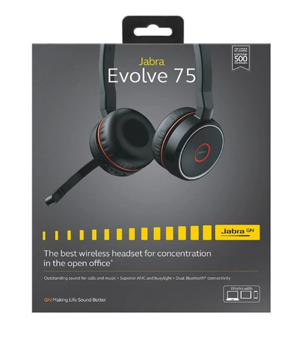 Jabra EVOLVE 75 Headset - Black