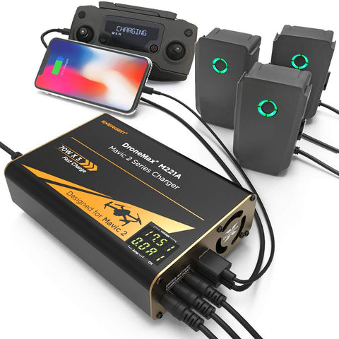 Wellbots_Energen_DroneMax_M221A_DJI_Mavic_2_Drone_Battery_Charger_USB