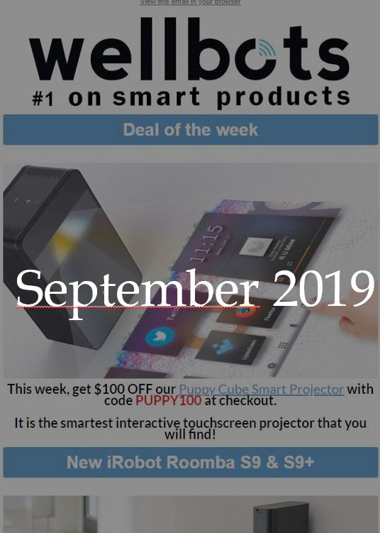 Wellbots Newsletter - September 2019