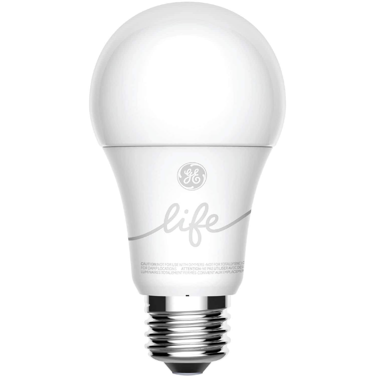 C by GE - C-Life A19 Smart LED Light Bulb (Soft White, 2-Pack)