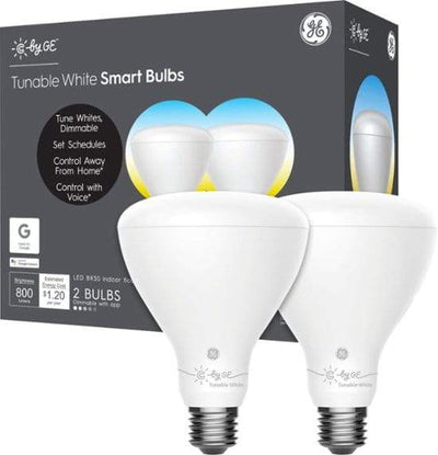 C by GE BR30 Smart Light Bulb - Tunable White Light Bulb - 2 Pack Health & Home General Electric