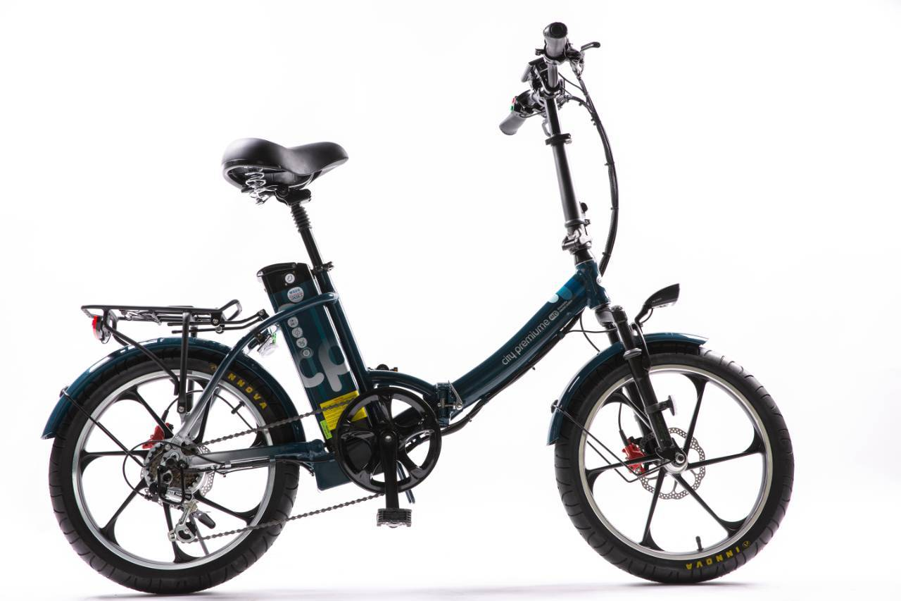City Premium 2021 x Foldable Electric Bike by GreenBike Electric Scooters Green Bike