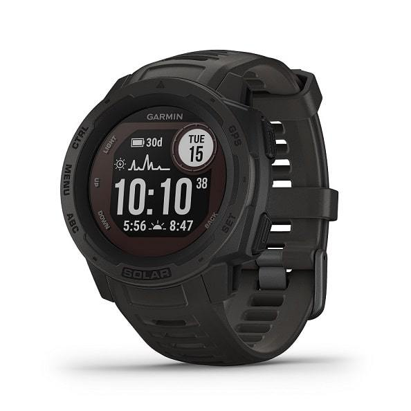 Garmin Instinct Solar Rugged GPS Smartwatches with Solar Charging