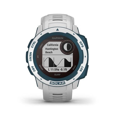 Garmin Instinct® Solar Surf Edition Rugged GPS Smartwatches with Solar Charging Connected Health Garmin