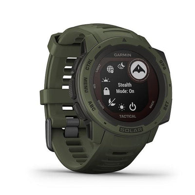 Garmin Instinct® Solar Tactical Edition Rugged GPS Smartwatches with Solar Charging Connected Health Garmin