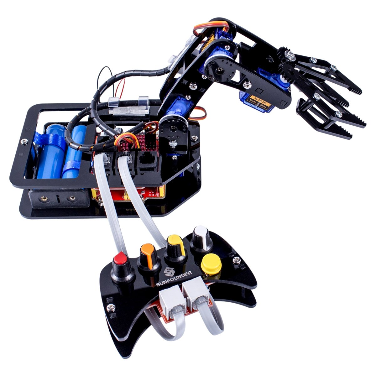 Hamilton Buhl STEAM Robo-Arm Kit for Arduino - Programmable 4-Axis Robot Arm