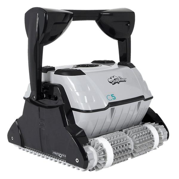 Maytronics Dolphin C5 Robotic Pool Cleaner w/ Remote & Caddy