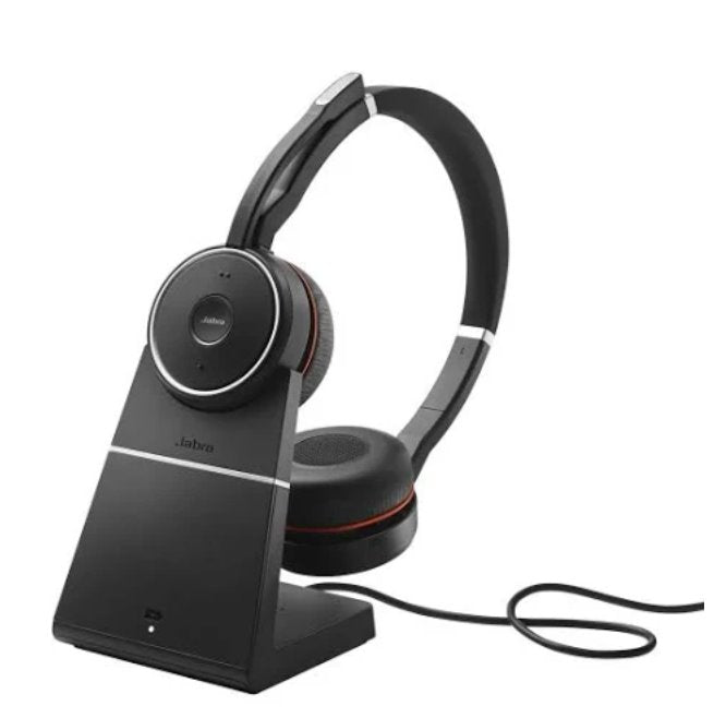 Jabra EVOLVE 75 Headset - MS Black with Charging Stand Audio & Video Jabra