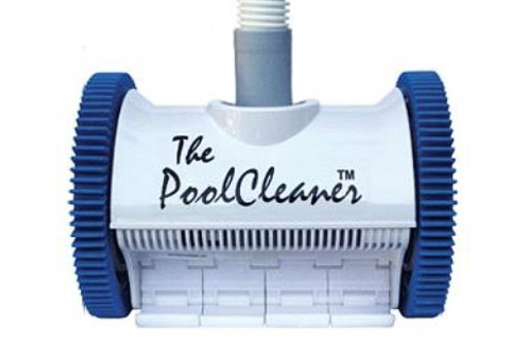 Poolvergnuegen PoolCleaner 2-Wheel Suction Cleaner - White and Blue Cleaning Robots Hayward