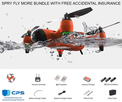 Swellpro Spry Plus Waterproof Drone Fly More Bundle + Free Insurance Drones SwellPro