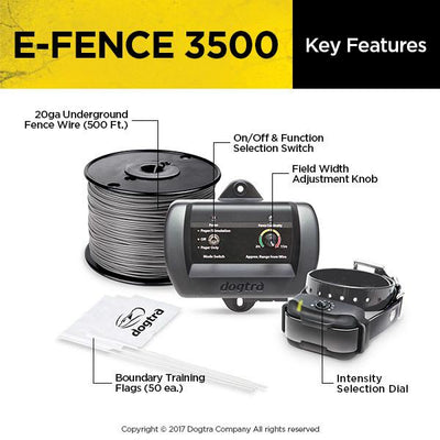 Dogtra e-fence 3500 Smart Boundaries