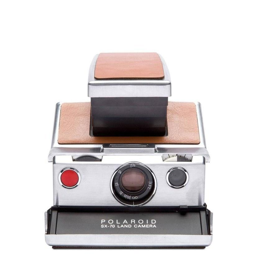 Polaroid SX-70 Camera Silver-Brown