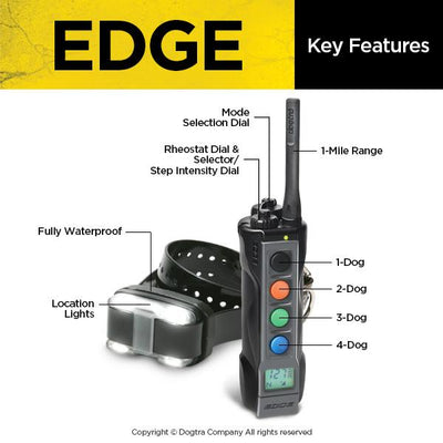Dogtra EDGE 1-Mile Remote Trainer Expands Up To 4 Dogs Pets Dogtra