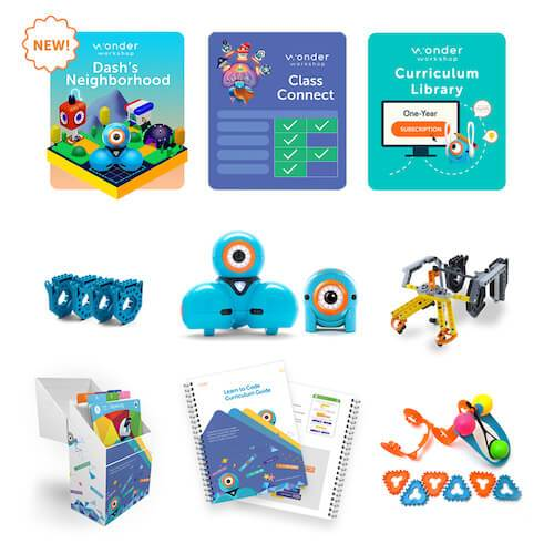 Wonder Workshop Dash and Dot Coach Pack w/ Class Connect Subscription Smart Toys Wonder Workshop