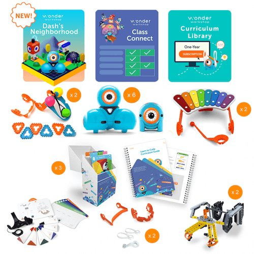 Wonder Workshop K-5 Classroom Pack w/ Class Connect Subscription Smart Toys Wonder Workshop